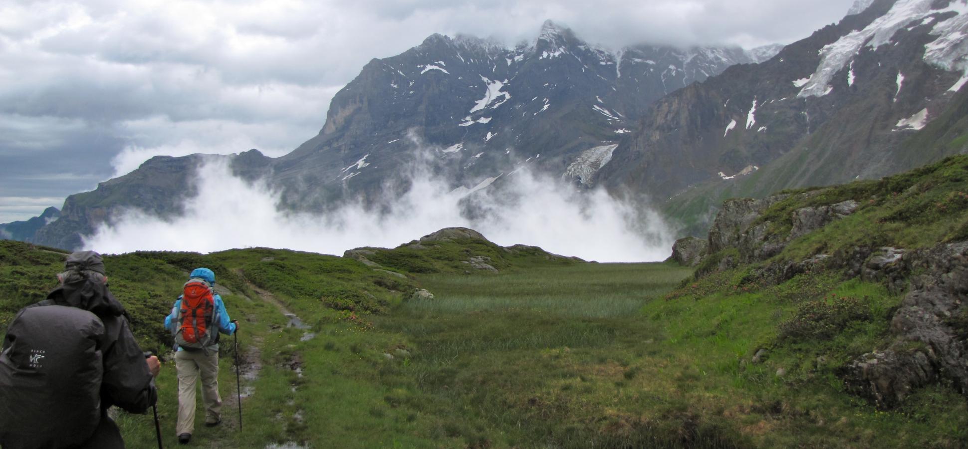 Bergwanderung in der Schweiz