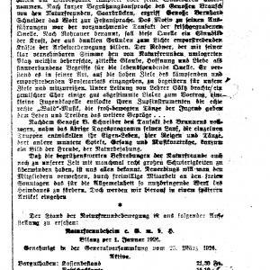 Artikel zur Einweihung Rohrauer-Brunnen