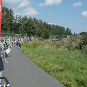 Menschenkette am Fliegerhorst Büchel am 05.09.21